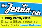 The Jenna Ride – Fundraiser for Injured Cyclist
